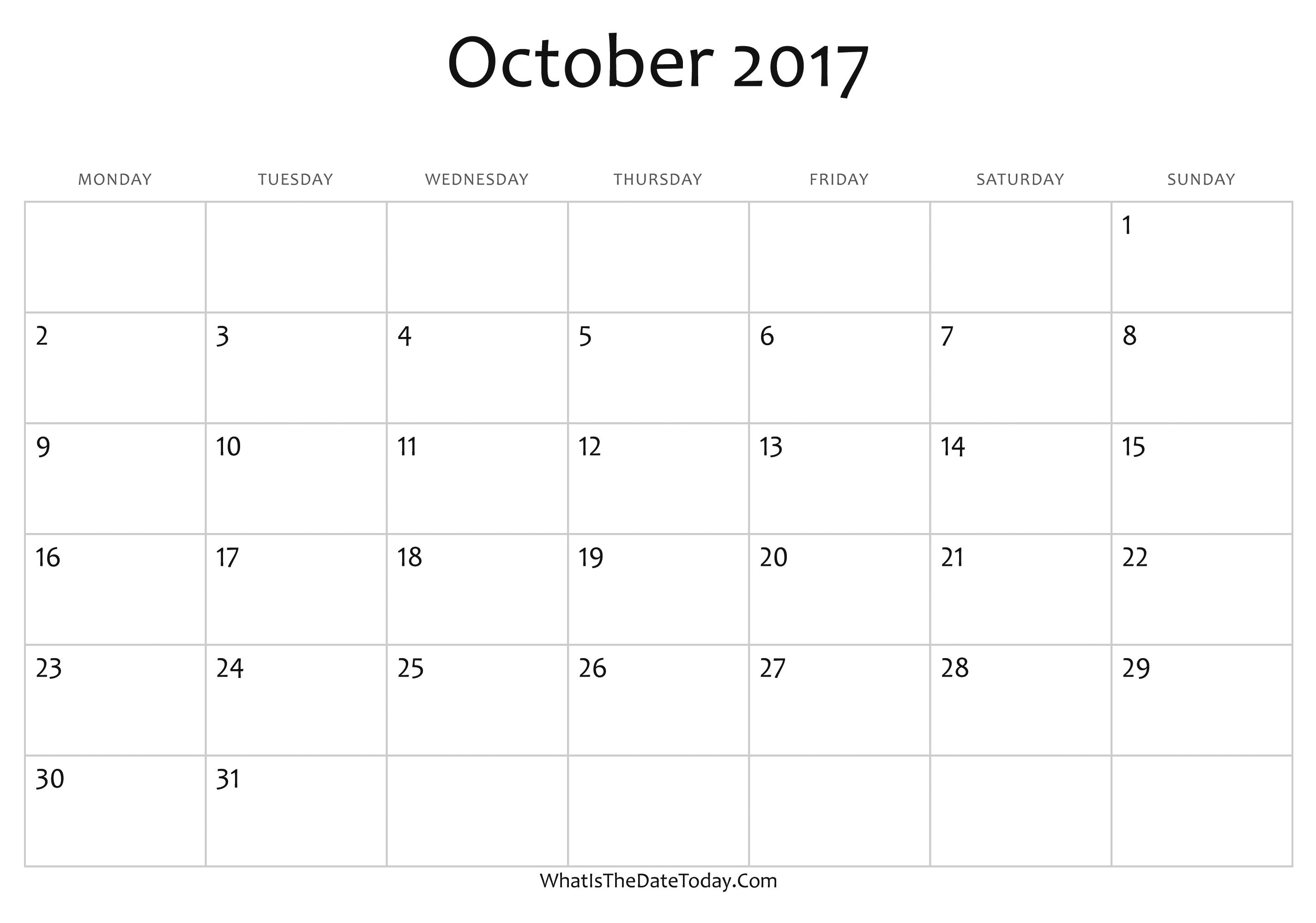 templates calendar 2017
