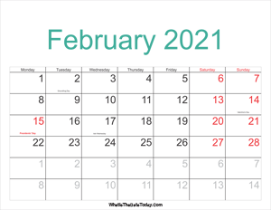 february 2021 calendar printable with holidays