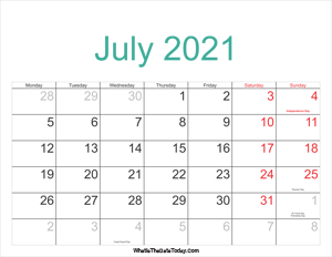july 2021 calendar printable with holidays