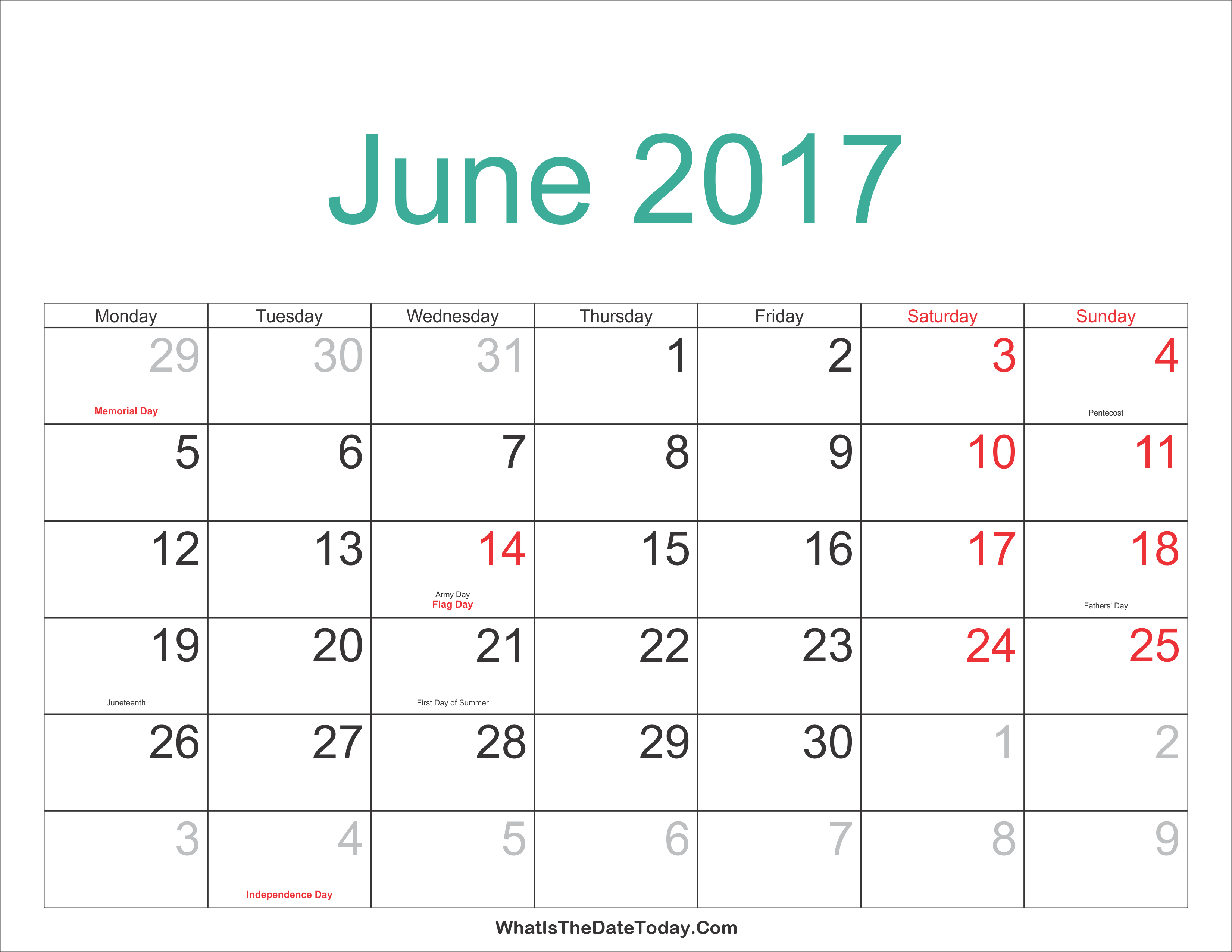 June Calendar Images : June calendar with holidays india usa printable