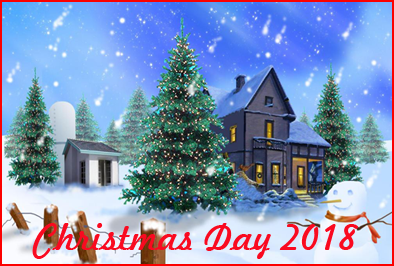 federal holidays 2018 whatisthedatetodaycom - Christmas Day 2018